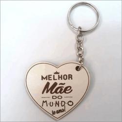 CHAVEIRO MDF PERSONALIZADO DIA DAS MÃES (PACOTE)
