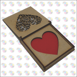 Porta Aliança  Caixa Coração, Casamento Festa Mdf Cru 3mm