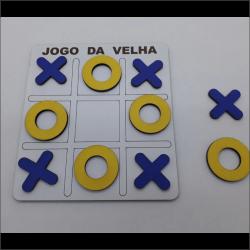 Jogo de velha MDF c/ Personalização 3mm 15x15