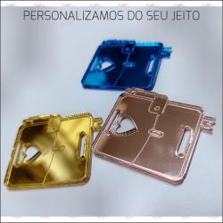 APLIQUE ACRILICO TAG  ETIQUETA 3,00 cms x 2,5 cms kit 100 Unidades