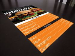 Cardápio Personalizado de PVC  Kit c/ encadernação